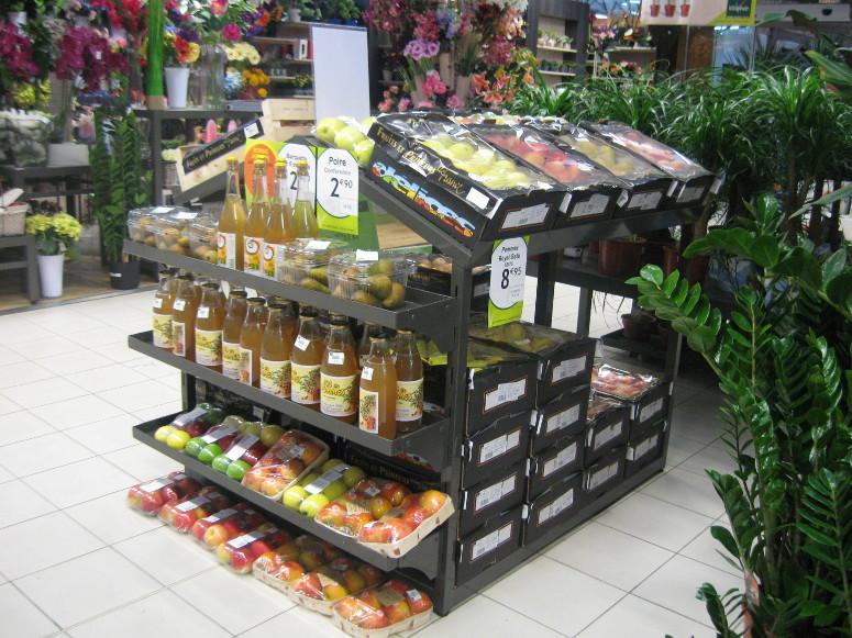 Portiques signal tique gamme jardinerie larbaletier - Presentoir fruits et legumes ...