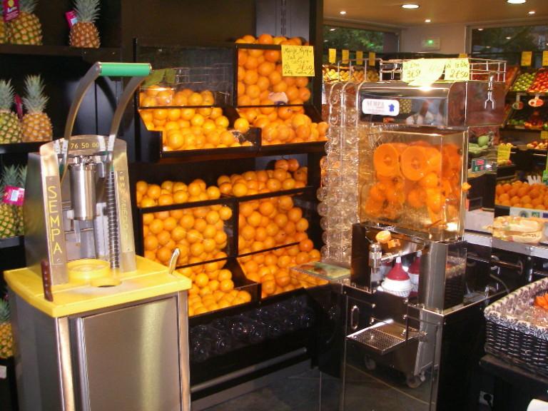 terroir - présentoir à oranges