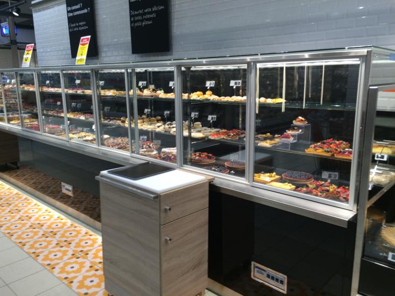 bvp - présentoir froid pâtisserie, vente assistée