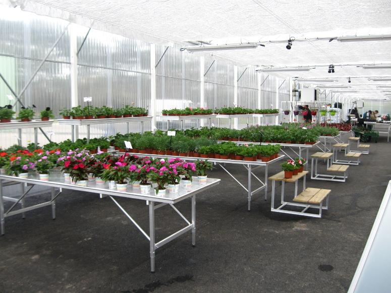 marché aux fleurs - tablar tout aluminium avec gradins