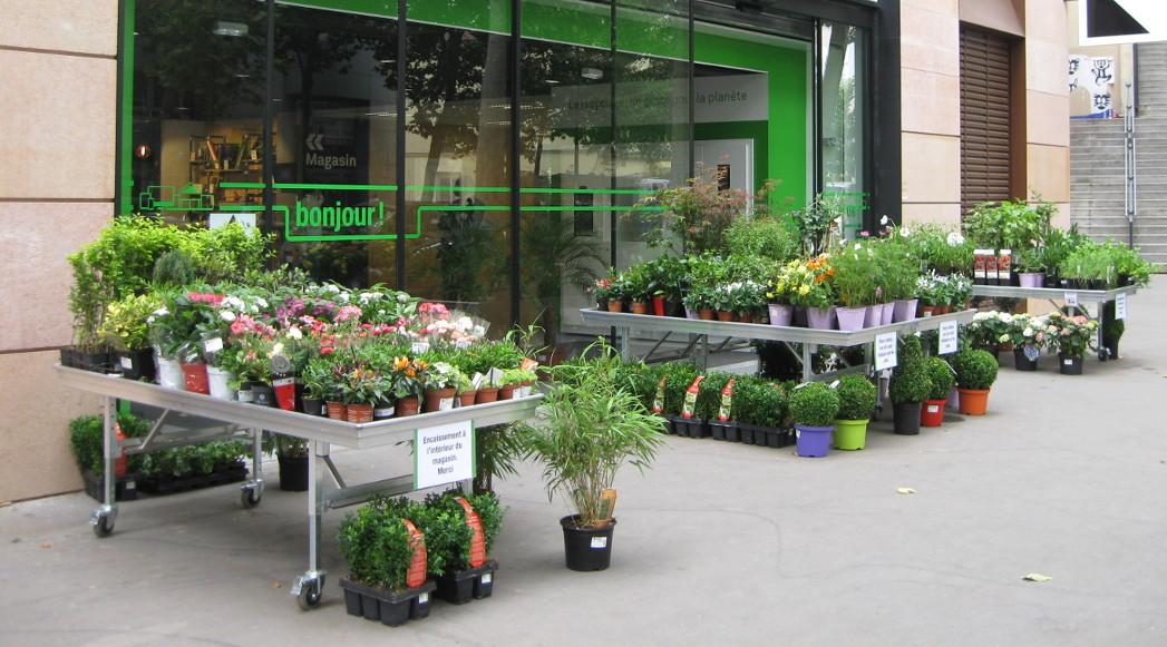 marché aux fleurs - tablars aluminium