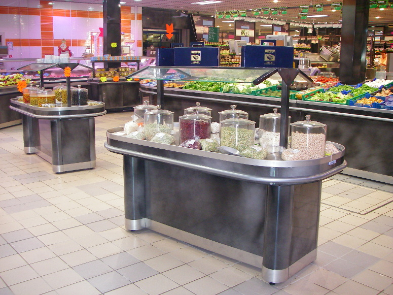 Tables de vente en vrac gamme fruits l gumes larbaletier for Bureau meuble en vrac