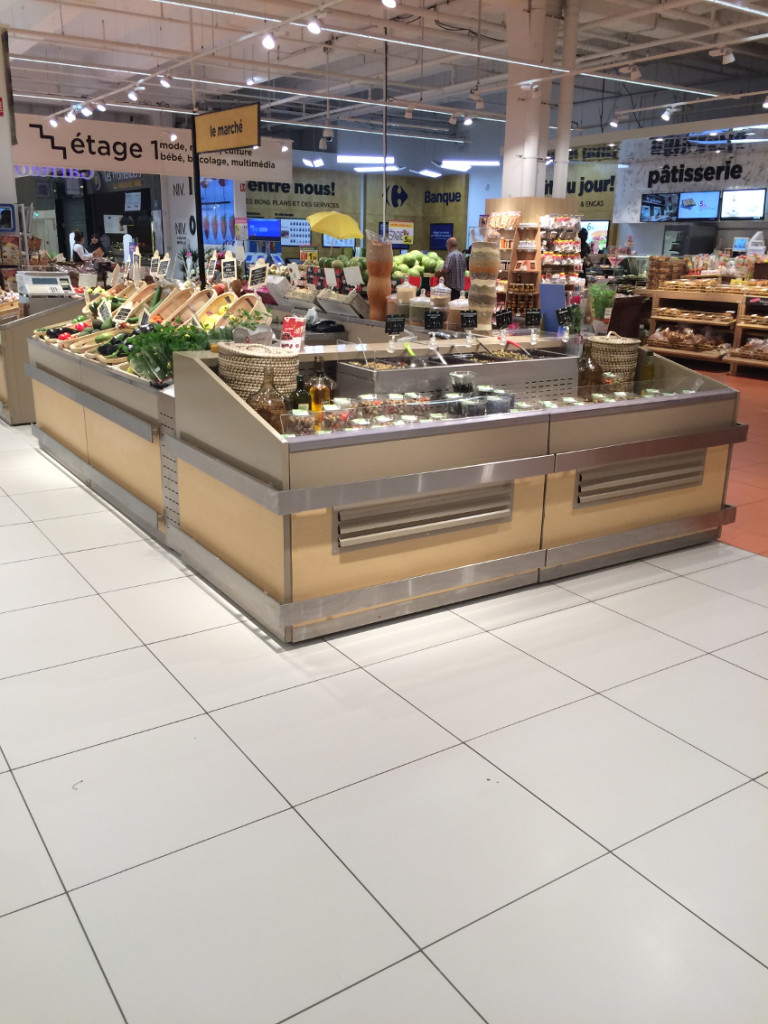 meuble présentoir bergerie avec fresh coupe - fruits&légumes