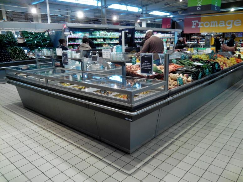 meuble présentoir bergerie avec fresh coupe - fruits et légumes