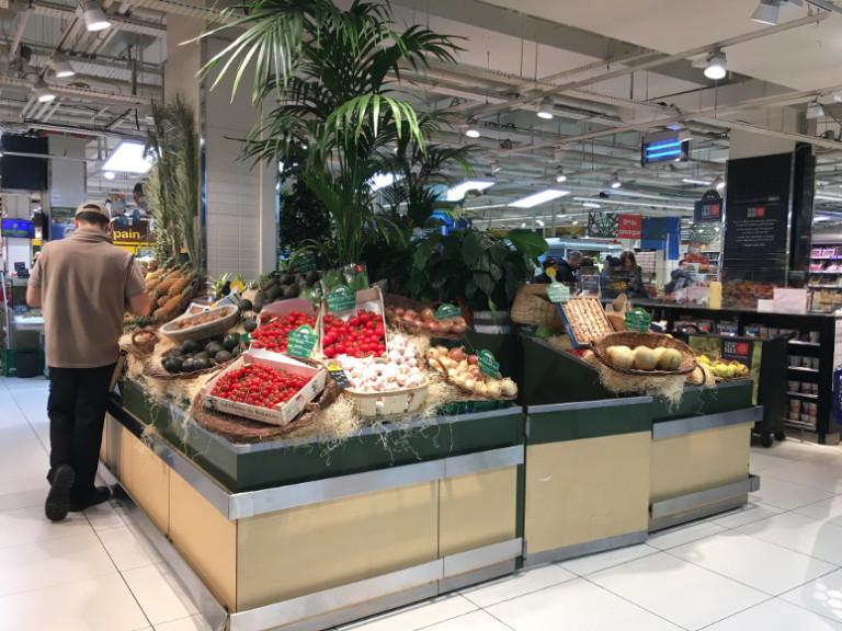 meuble présentoir bergerie - fruits et légumes
