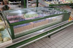 fresh coupe caisson intégré dans un présentoir banque centrale fruits et légumes