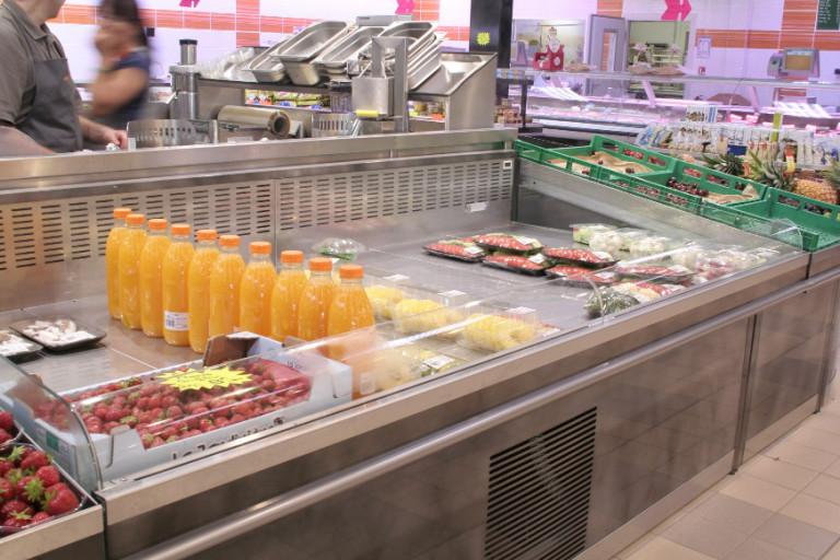 fresh coupe intégrée a meuble table centrale fruits&légumes