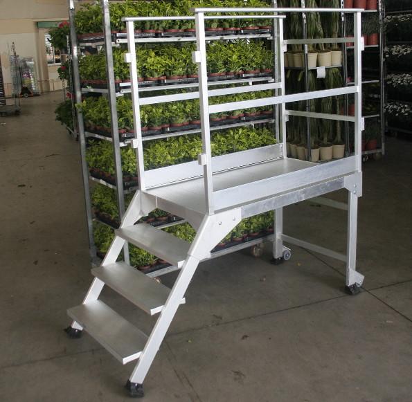 horticulture - plateforme de déchargement de rolls