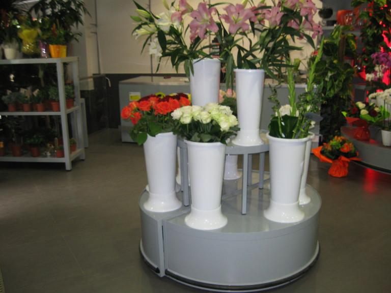 podiums fleurs demi ronds