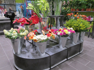 podiums fleurs rectangulaires et demi ronds