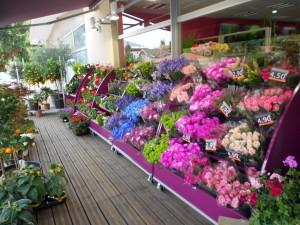 presentoir lineaire bouquets incline