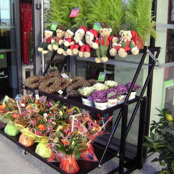 marché aux fleurs - présentoir multifonction laqué