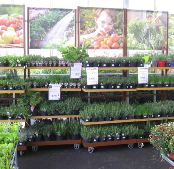 marché aux fleurs - présentoir universel aluminium laqué