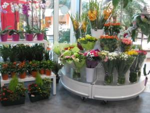 presentoir fleuriste quart de rond