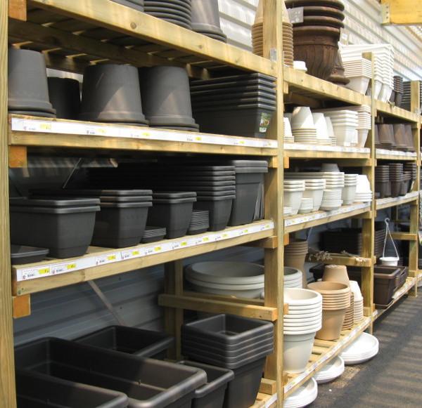 manufacturé - rack bois, étages réglables en hauteur