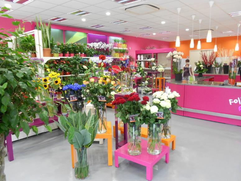 sellettes fleuristes multicolores