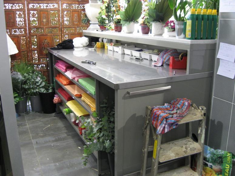 table de travail fleuriste
