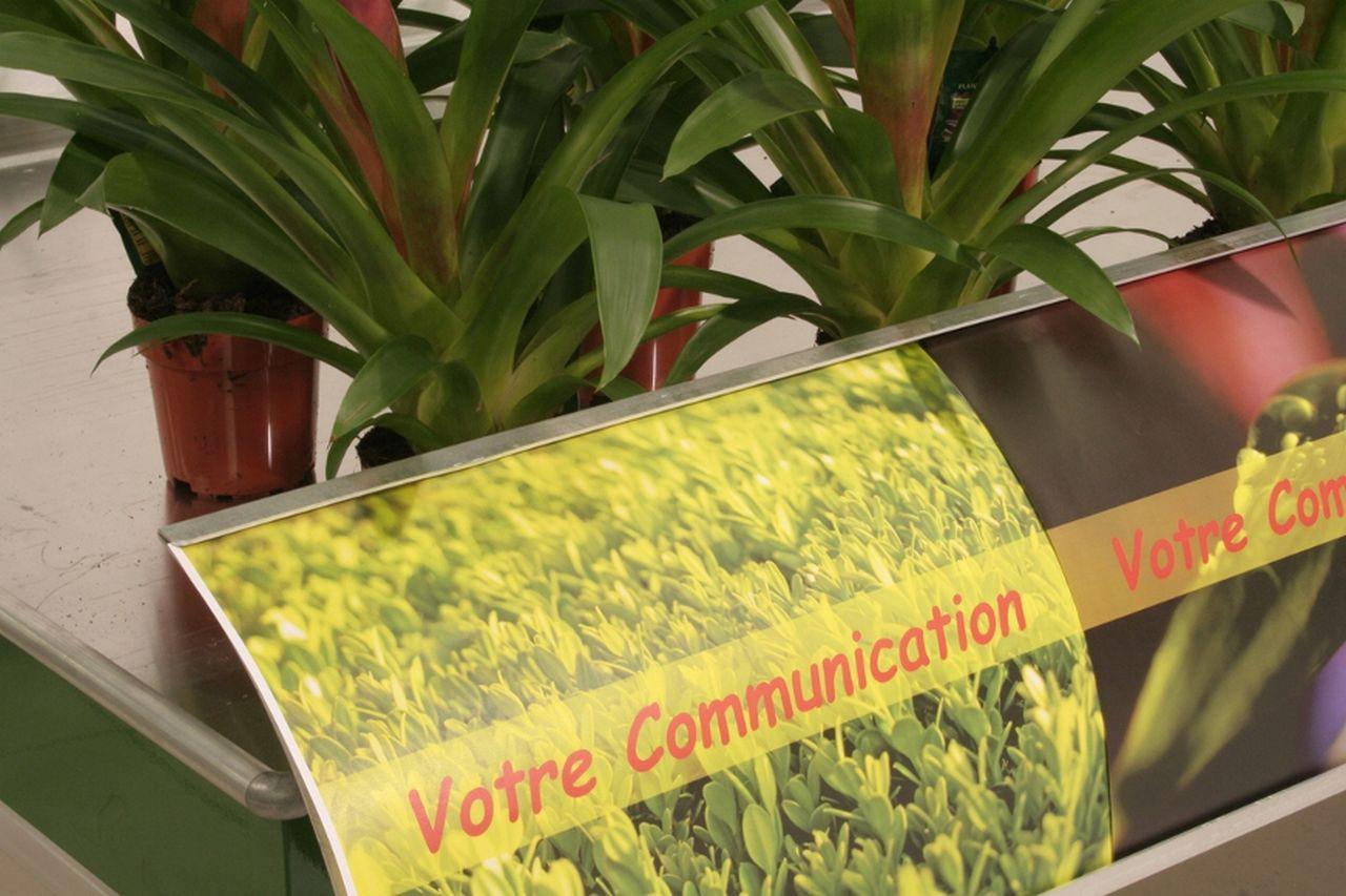 signalétique bandeau communication convexe