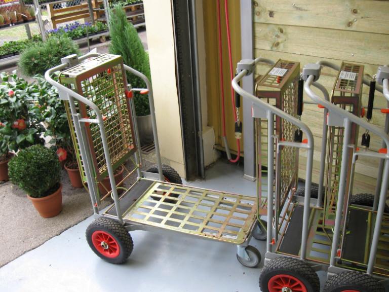 chariots de jardinerie libre service emboitables