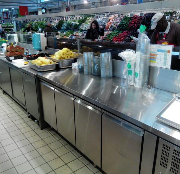 comptoir service et pmr en bergerie fruits et légumes