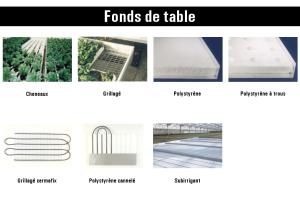 horticulture - fonds de table
