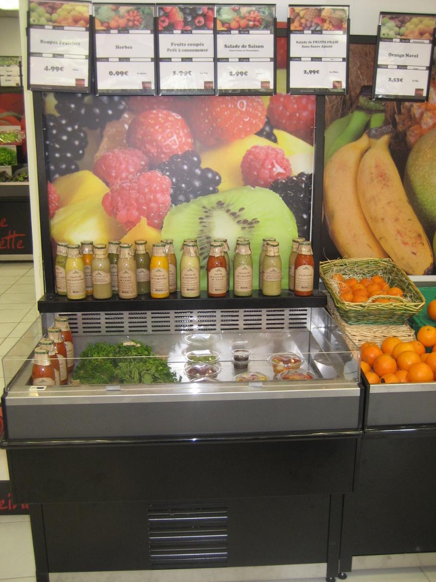 fresh coupe fruits et légumes, module autonome avec fond visuel