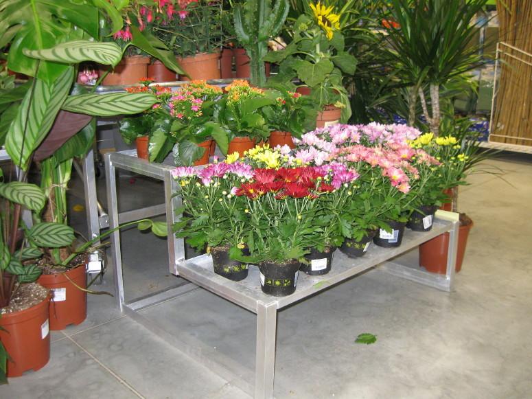 marché aux fleurs - gradins aluminium bacs étanches