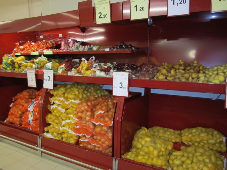 présentoir meuble mural PDT - pommes de terres