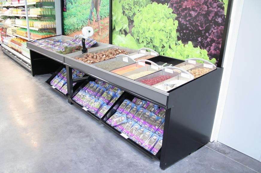 présentoir meuble mural FS - fruits secs. fond visuel