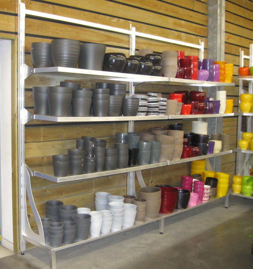 manufacturé - présentoir modulable tout aluminium