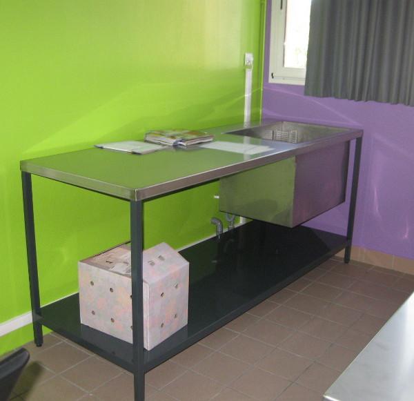 horticulture - table de formation avec évier