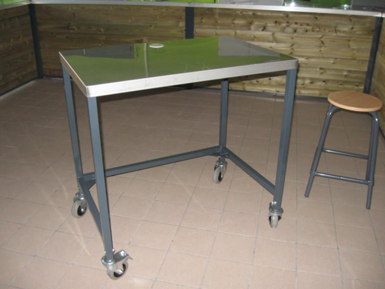 horticulture - table de formation sur roues