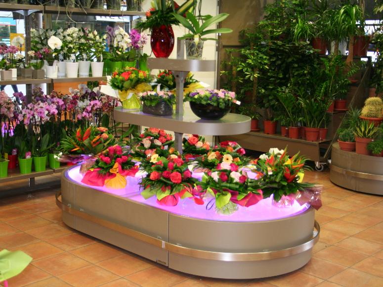 table fleuriste lumineuse retroeclairee 3 niveaux