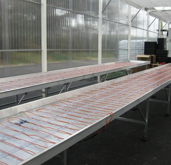 horticulture - tables de production avec nappes chauffantes électriques