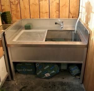 horticulture - table de travail avec évier