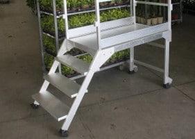 Jardinerie et Horticulture - plate-forme de déchargement de rolls