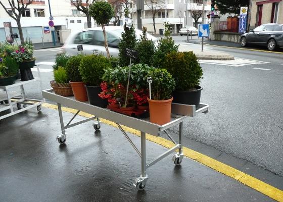 Fleuristerie - tablar extérieur