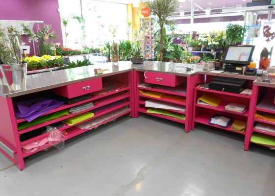 Fleuristerie - comptoir accueil et emballage